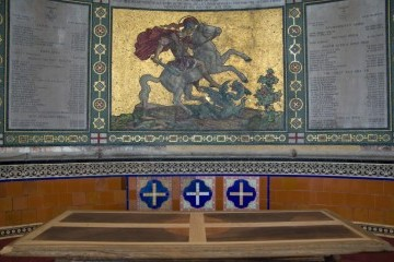 Altar top looking to the East Apse mosaic