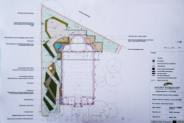 Plan of proposed Commonwealth and Gurkha Garden concept by Juliet Sargeant