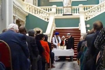 Faith Leaders light the memorial candles 1