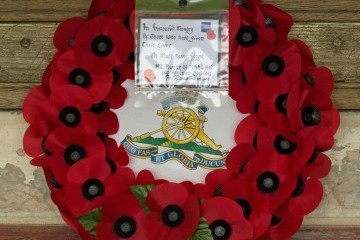 Wreath laid by the Army