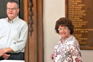 Rita and Derek arrive at the Town Hall